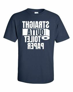 STRAIGHT OUTTA TOILET PAPER Navy Blue T-Shirt Free Shipping