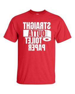 STRAIGHT OUTTA TOILET PAPER RED T-Shirt Free Shipping
