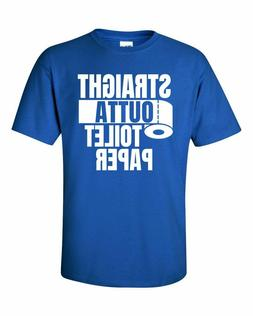 STRAIGHT OUTTA TOILET PAPER Royal Blue T-Shirt Free Shipping