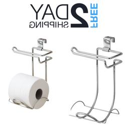 Tank Mounted Toilet Paper Holder Mount Side Storage Roll Rac