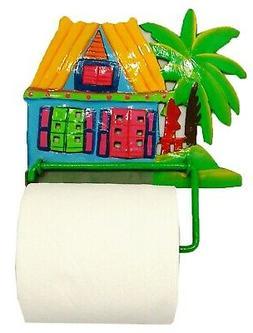 tiki hut palm bath toilet paper tp