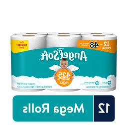Angel Soft Toilet Paper, 12 Mega Rolls , 425+ 2-ply sheets