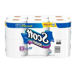 Scott Toilet Paper 12 Rolls 1000 Sheets / Roll Septic Tank R