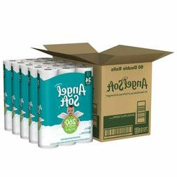 ANGEL SOFT Toilet Paper Bath Tissue 60 Double Rolls 260+ 2-P
