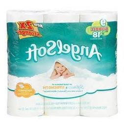 ANGEL SOFT TOILET PAPER BATH TISSUE 9 DOUBLE ROLLS