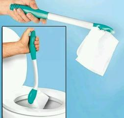 Comfort Toilet Paper Holder Extension, Long Wipe Handle Sani
