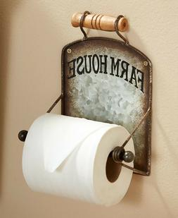 Toilet Paper Holder Farmhouse Chic Country Rustic Bathroom W