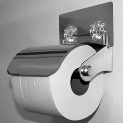 Evelots Toilet Paper Holder-New-Stainless Steel-Easy to Inst