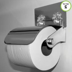 Evelots Toilet Paper Holder-Stainless Steel-Easy Install-No