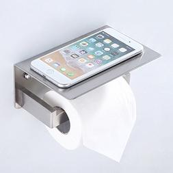 Toilet Paper Holder with Phone Shelf, Turn Left Direction, A