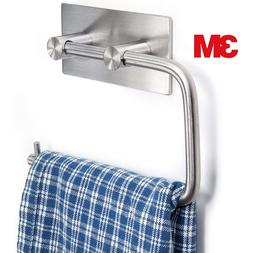 Toilet Paper Holder Wall Mount 3M Self Adhesive Brushed Stai