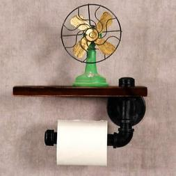 Toilet Paper Holder Wall Mount Industrial Rustic Pipe Design