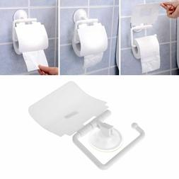Toilet Paper  Holder With Protective Lid  Strong Suction Dur