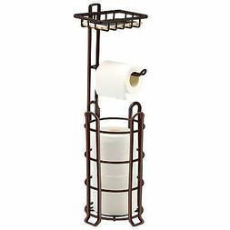 TomCare Toilet Paper Holder Toilet Paper Stand 4 Raised Feet