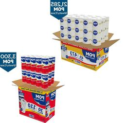 Toilet Paper Towel Bathroom 2-Ply Perforated Commercial Qual