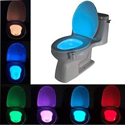 Toilet Seat Covers - 8 Color Smart Bathroom Toilet Nightligh
