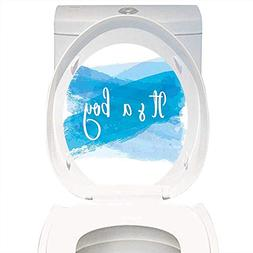 Qianhe-Home Toilet Seat Wall Stickers Paper Gender Reveal De