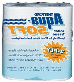 Toilet Tissue Aqua-Soft Bathroom Paper Bath Supply RV Sanita