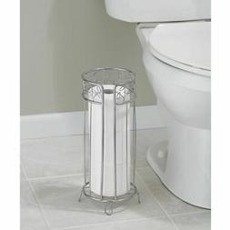 Toilet Tissue Paper Roll Stand Holder Storage Bath Bathroom