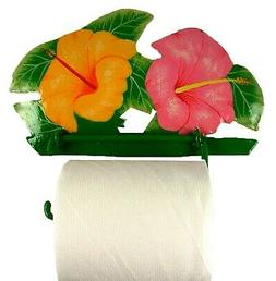 Tropical Hibiscus Toilet Paper TP Holder or Hand Towel Holde