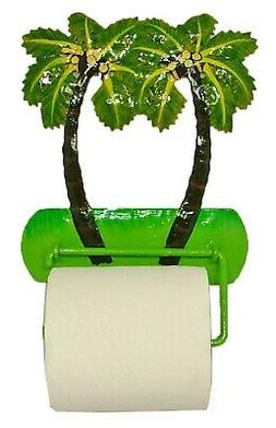 Tropical Palm Tree Toilet Paper TP Holder or Hand Towel Bar
