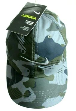 Nike Twill Heritage 86 Running Cap Hat Green Camo One Size F
