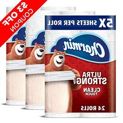 Charmin Ultra Strong Clean Touch Toilet Paper, 24 Family Meg