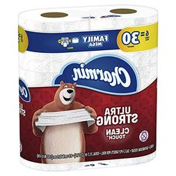 Charmin Ultra Strong Clean Touch Toilet Paper, 6 Family Mega