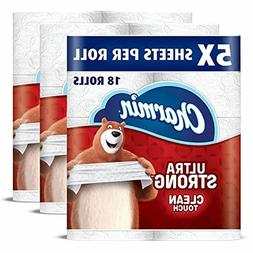 Charmin Ultra Strong Clean Touch Toilet Paper, 18 Family Meg