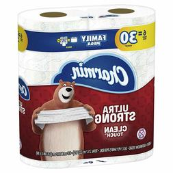 Ultra Strong Clean Touch Toilet Paper, 6 Family Mega Rolls =