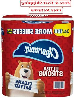 Charmin Ultra Strong Toilet Paper 24 Mega Plus Roll, Bath Ti
