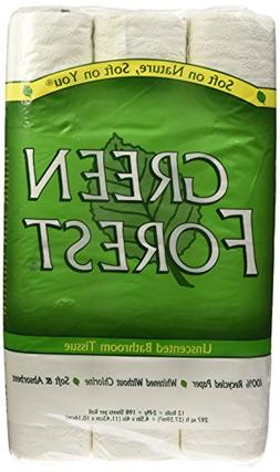 Green Forest Unscented Bathroom Tissue, 100% Recycled Paper,
