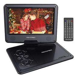 """DBPOWER 9.5"""" Portable DVD Player with Swivel Screen, 5-Hour"""