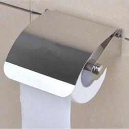 US Stainless Steel Toilet Paper Roll Holder Tissue Bathroom