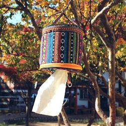 US_Toilet Paper Tissue Box Holder Roll Ethnic Handle Outdoor