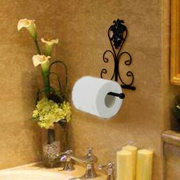 Vintage Iron Toilet Paper Towel Roll Holder Bathroom Wall Mo
