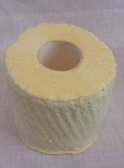 Vintage YELLOW Color Toilet Paper 1 Roll 1970's or 1980's