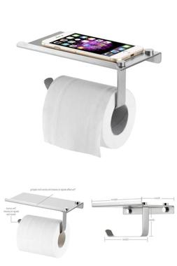 Wall Mount Toilet Paper, Phone Holder Strong Stainless Steel
