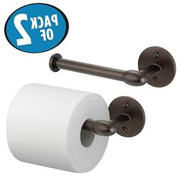 mDesign Modern Metal Wall Mount Toilet Tissue Paper Roll Hol
