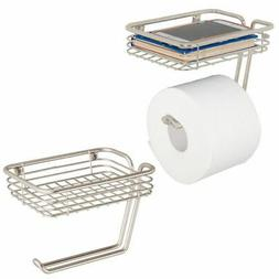 mDesign Wall Mount Toilet Tissue Paper Roll Holder and Dispe