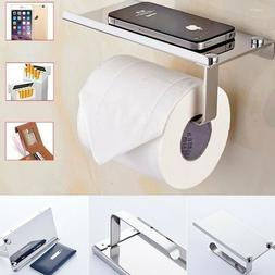 wall mounted bathroom toilet paper phone holder