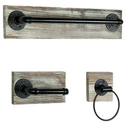 MyGift Wall-Mounted Industrial Rustic 3 pc Bathroom Fixture
