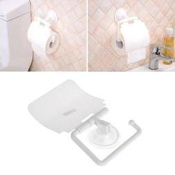 Wall Mounted Plastic Suction Cup Bathroom Toilet Paper Roll