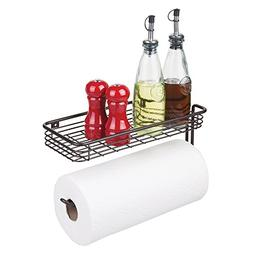 Wall Mounted Shelf Paper Towel Holder Spice Rack Kitchen Gar