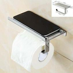 Wall Mounted Stainless Steel Toilet Paper Mobile Phone Holde