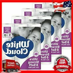 White Cloud Strong Soft 2 Ply Toilet Paper 48 Mega Rolls 308