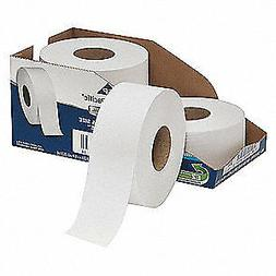 "White Jumbo Bathroom Tissue, 2-Ply, 3 1/2 X 1000 Ft, 9""dia,"