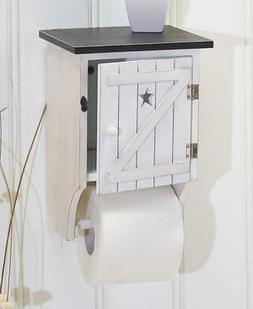 WHITE Rustic Country Primitive Outhouse Toilet Paper Holder