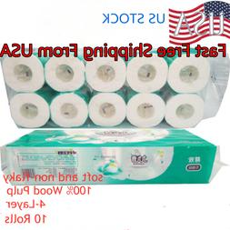 White Soft Toilet Papers 10 Rolls- Household Eco-Friendly Ba