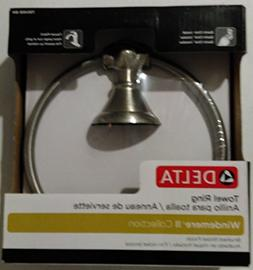 Delta Windemere Brushed Nickel Wall Mount Towel Ring Item#44